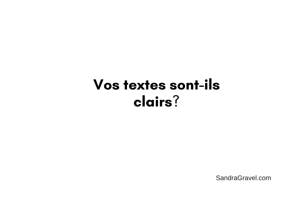 Textes clairs