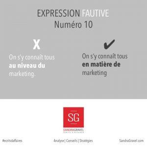 Expression fautive numéro 10